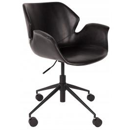 Černá kancelářská židle ZUIVER NIKKI