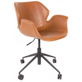 Hnědá kancelářská židle ZUIVER NIKKI