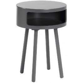 Šedý odkládací stolek LaForma Bruk 40 cm