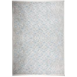 Světle šedý koberec ZUIVER YENGA 160x230 cm s modrými vzory