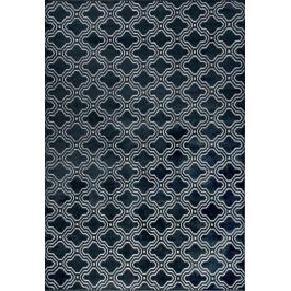 White Label Living Modrý vzorovaný koberec WLL Feike 160x230 cm