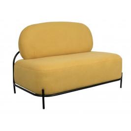 White Label Living Žlutá čalouněná pohovka WLL POLLY 125 cm