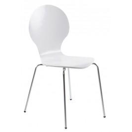 SCANDI Bíla dřevěná jídelní židle Line
