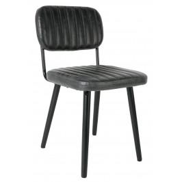 White Label Living Černá čalouněná židle WLL JAKE WORN
