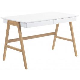 Bílý pracovní stůl LaForma Ingo 120x60 cm