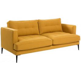 Žlutá čalouněná pohovka LaForma Vinny 183 cm