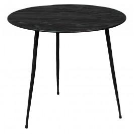 Černý odkládací stolek DUTCHBONE Pepper 40 cm