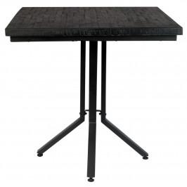 White Label Living Černý dřevěný jídelní stůl WLL MAZE SQUARE 75x75 cm