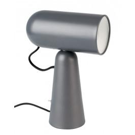 White Label Living Tmavě šedá stolní lampa WLL VESPER