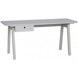 Hoorns Šedý masivní pracovní stůl Werner 160 cm