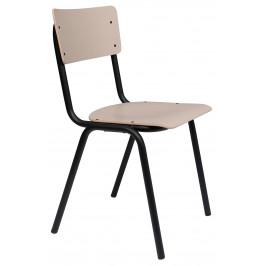Matná béžová jídelní židle ZUIVER BACK TO SCHOOL