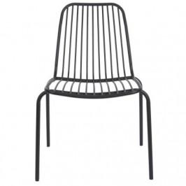 Time for home Černá kovová židle Liner