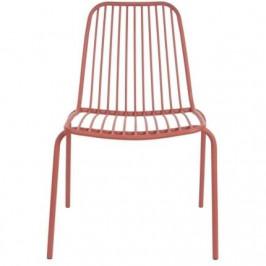 Time for home Červená kovová židle Liner