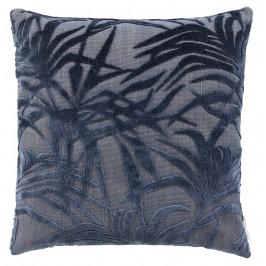 Tmavě modrý polštář ZUIVER MIAMI s palmovým motivem