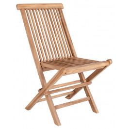 Nordic Living Přírodní dřevěná jídelní židle Kyron