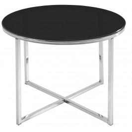 SCANDI Černý skleněný konferenční stolek Claire 55 cm