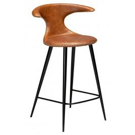 DAN-FORM Hnědá kožená barová židle DanForm Flair 90 cm