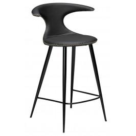 DAN-FORM Černá kožená barová židle DanForm Flair 90 cm