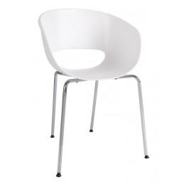 Culty Bílá plastová židle Cascare