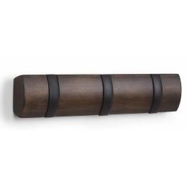 Culty Ořechově černý dřevěný nástěnný věšák Nuty 3