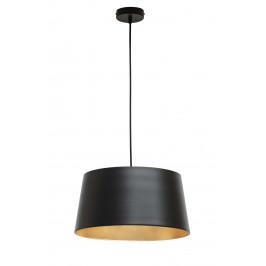 Hoorns Černé kovové závěsné světlo Loma