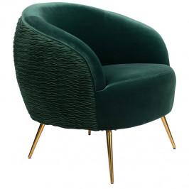 Zelené sametové lounge křeslo Bold Monkey So Curvy