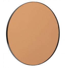 Hoorns Kulaté kovové hnědé zrcadlo Hope, 50 cm
