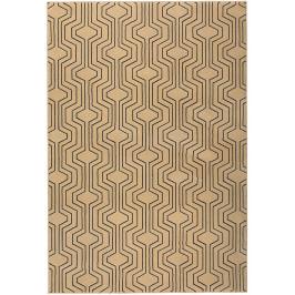 Béžový vzorovaný koberec Bold Monkey Swinging Lines 160x230 cm
