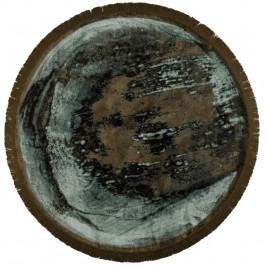 Zeleno-hnědý koberec s motivem země Bold Monkey Rocky 175 cm
