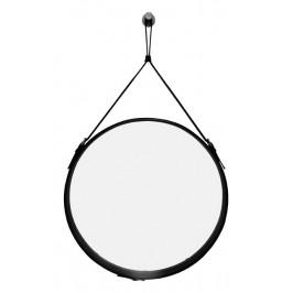 Černé kulaté zrcadlo RGE Elvis Ø 50 cm