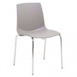Design Project Šedá plastová jídelní židle Laura