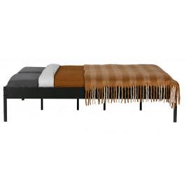 Hoorns Černá kovová postel Ariana, 180x200 cm