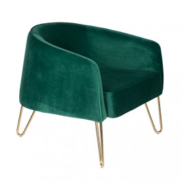 Zelené sametové lounge křeslo Bold Monkey Queenalicious