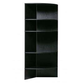Hoorns Černá dřevěná knihovna Richard 100 cm