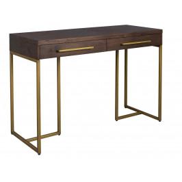 Hnědý pracovní stůl DUTCHBONE CLASS 120x78 cm