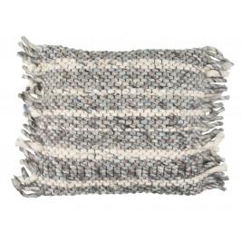 Šedomodrý pletený polštář ZUIVER FRILLS