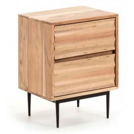 Dřevěný noční stolek LaForma Delsie