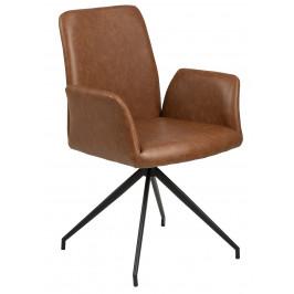 SCANDI Hnědá otočná čalouněná židle Luisa
