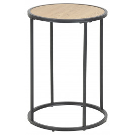 SCANDI Dubový kulatý odkládací stolek Darila 55 cm