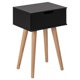 SCANDI Černý noční stolek Marika