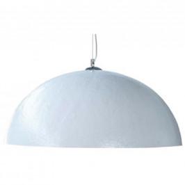 Moebel Living Bílostříbrné závěsné světlo Dome 70 cm