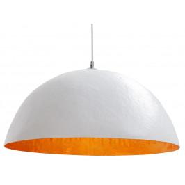 Moebel Living Bílozlaté závěsné světlo Dome 70 cm