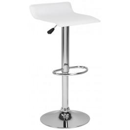 SCANDI Bílá čalouněná barová židle Dany