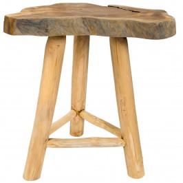 Moebel Living Masivní konferenční stolek Snag 45x35 cm