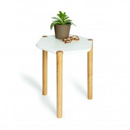 Culty Odkládací stolek Lexa, bílá 41x37 cm