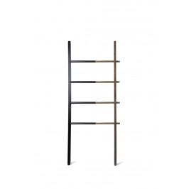 Culty Odkládací žebřík Pinta 152 cm, černá/ořech