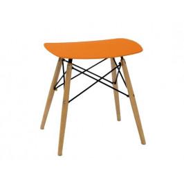 Culty Gold Oranžová plastová stolička DSW