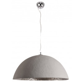 Moebel Living Šedostříbrné závěsné světlo Dome 50 cm