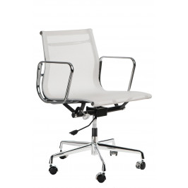 Culty Bílá čalouněná konferenční židle Soft Pad