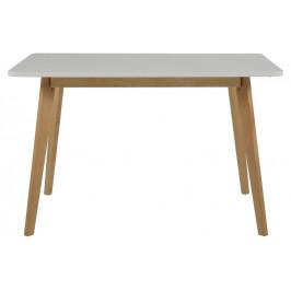 Culty Bílý dřevěný jídelní stůl Chaime 120x80 cm